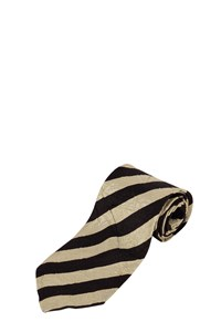 Boss Cracked Silk Tie with Diagonal Stripes