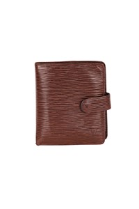 Louis Vuitton Epi Leather Brown Bi Fold Wallet