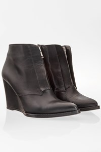 Surface To Air  Bushwick Leather Wedge Ankle Boots / Size: 38 - Fit: True to size