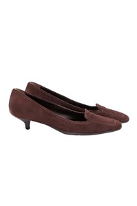 Prada Sport Brown Suede Low-Heeled Pumps