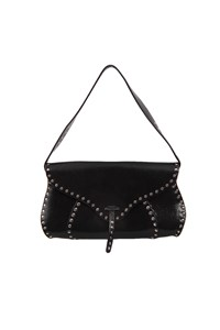 Céline Black Leather Studded Shoulder Bag