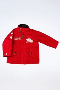Polo Ralph Lauren Red Light Jacket with White Logo