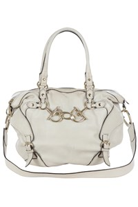 Gucci Horsebit Nail Off-White Leather Bag