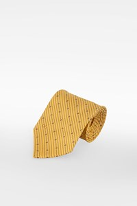 Valentino Pastel Yellow Striped Silk Tie