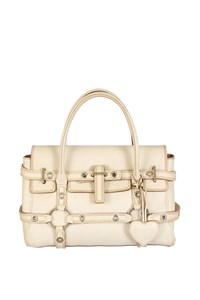 Luella Gisele Ecru Leather Tote Bag