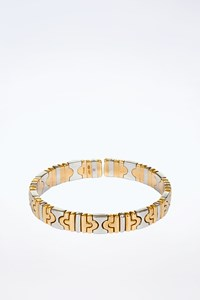 Bulgari Vintage Parenthesis Gold and Steel Bracelet
