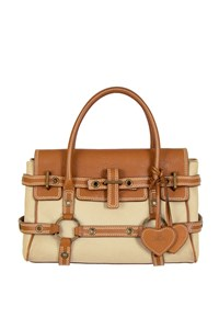 Luella Gisele Beige and Tan Tote Bag