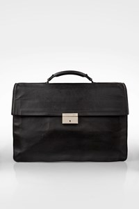 Cerruti 1881 Black Leather Men's Briefcase