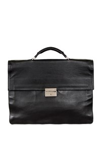 Cerruti 1881 Black Leather Briefcase