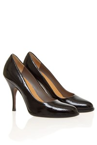 D&G Black Patent Leather Almond Toe Pumps