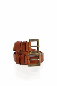 Dolce & Gabbana Double Brown Leather Belt