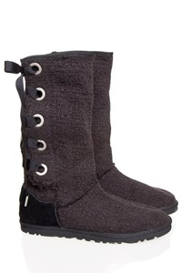 Ugg Heirloom Black Lace-Up Boots