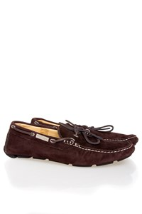 CANALI Chocolate Brown Suede Loafers