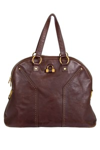 YSL Muse Oversized Brown Leather Bag