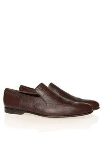 Guccissima Punch Brown Loafers