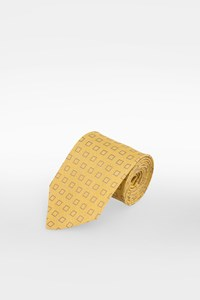 Hermès Pastel Yellow Linen and Silk Tie
