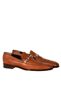 Salvatore Ferragamo Nemo Gancio Bit Brown Loafers