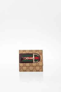 Gucci GG Canvas Horsebit Hasler Wallet