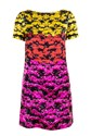 Multicolour Flower Silk Dress