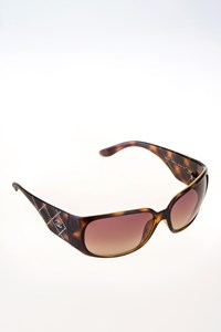 Chanel 5080-B Crystal-Embellished Tortoise Shell Sunglasses