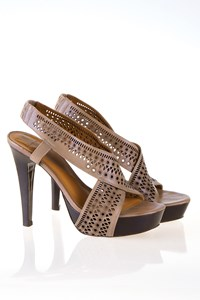 DVF Iris Cut Out Leather Sandals