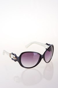 Fendi FS382 Black and White Sunglasses with Buckle