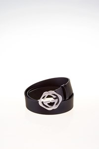 "Gucci Men's Black Leather Interlocking ""GG"" Belt"