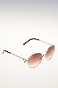 Chloé CE112S Brown Round Oversized Sunglasses