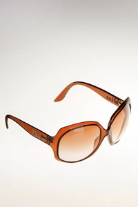 Dior Glossy 1 Brown Oversized Sunglasses