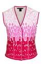 Marc Jacobs Pink-Red Printed Cotton Gilet