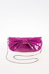 D&G Purple Patent Leather Clutch with Bow Flap