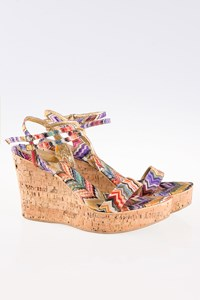Missoni Multicolored Zig Zag Cork Wedges / Size: 40 - Fit: True to size