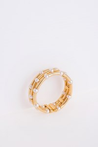 JEWELRY STORE Pearl-Embellished Gold-Plated Bracelet