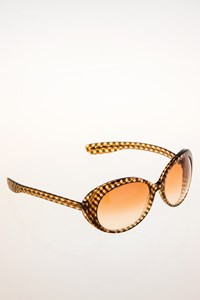Bottega Veneta BV 58/S Acetate Checked Sunglasses
