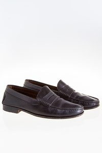 Tod's Citta Men's Black Leather Penny Loafers