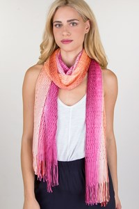 Missoni Orange-Pink Ombre Knitted Scarf