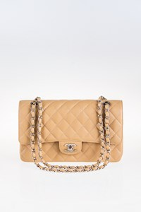 Chanel Classic Double Flap Medium Beige Bag