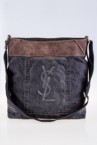 YSL Odeon Blue Denim Messenger Bag