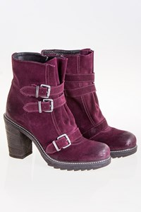 Diesel Aubergine Ankle Boots with Straps