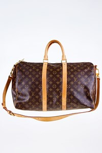 Louis Vuitton Monogram Canvas Keepall Bandouliere 45 Sac Voyage