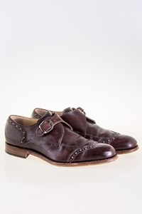 Dolce & Gabbana Brown Leather Monk-Strap Shoes
