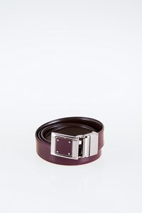 Dolce & Gabbana Brown-Burgundy Leather Reversible Belt