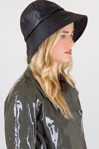Kokin Black Leather Hat