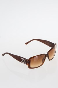 Chanel 5114B Brown Acetate Sunglasses with Crystals