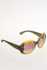 John Galliano JG27 Green Oversized Acetate Sunglasses