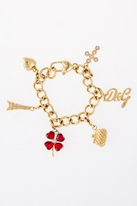 D&G Gold-Plated Chain Bracelet with Charms