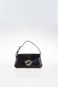 Gucci Black Perforated Leather Reins Mini Bag
