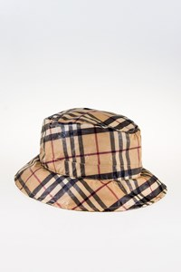 Burberry London Check Waterproof Bucket Hat / Size: L