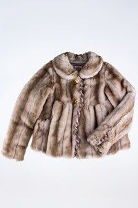 Juicy Couture Beige Faux Fur Coat / Size: 8 US