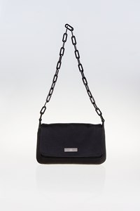 Gucci Black Satin Small Bag with Shoulder Chain
